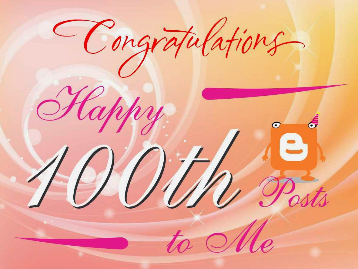 Happy 100th Blog Posts