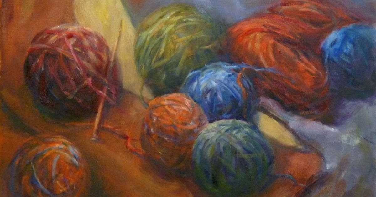 Knitting Oils : Daily painting projects knitting yarn oil art