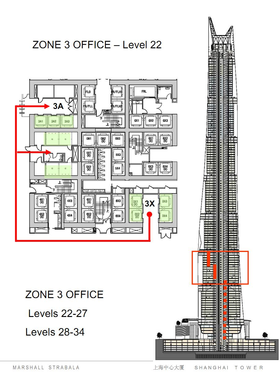 Architectural Drawings Of Skyscrapers world of architecture: shanghai tower elevator system drawings and