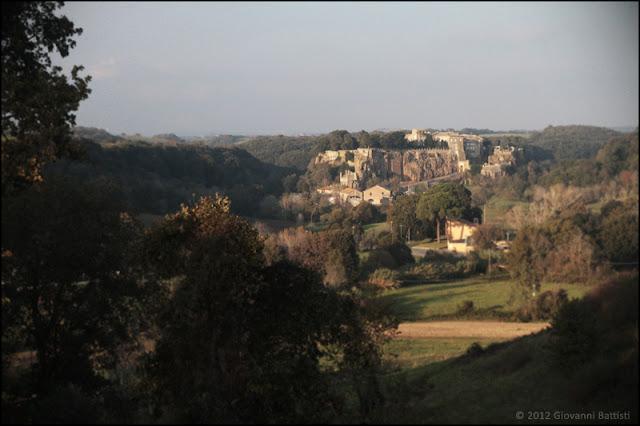 Panorama del borgo di Ceri, in provincia di Roma