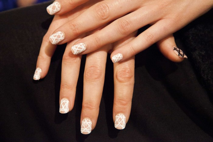 Bibhu Mohapatra Spring 2015 negative space nails