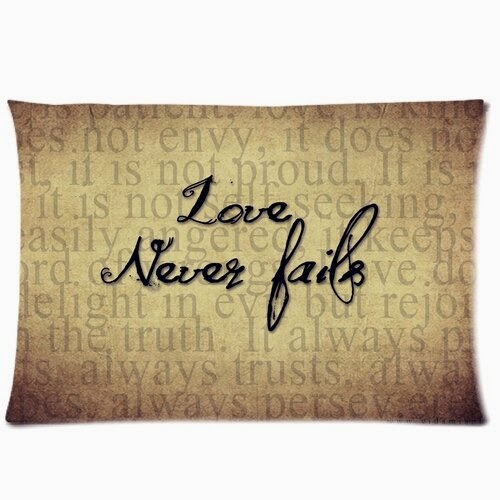 Love Never Fails Printed Best for Romantic Valentine's Gifts