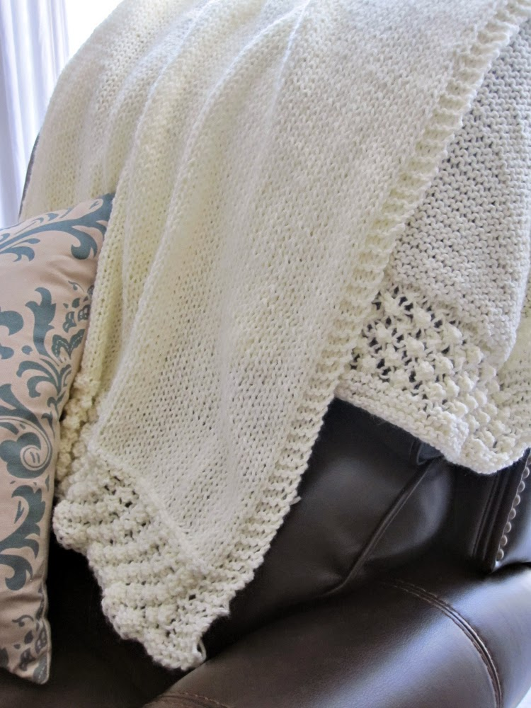 Knit Prayer Shawl Closeup