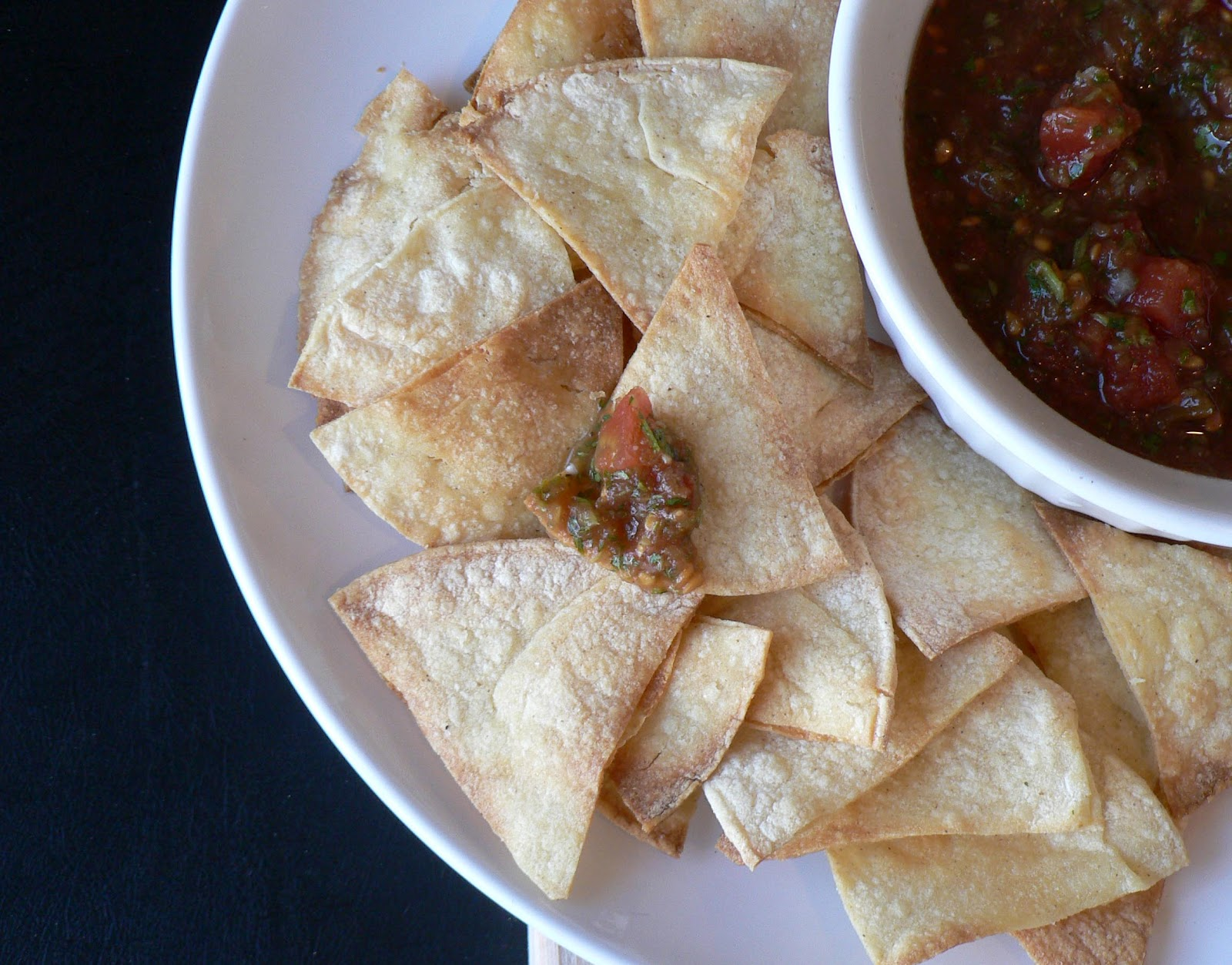 Homemade Baked Corn Tortilla Chips - Bless This Mess