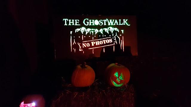 Ghostwalk Sign Rise of the Jack O'Lanterns