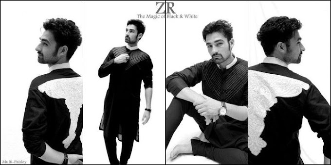 The Magic of Black & White Collection 2011 By Zayn Rashid Designs | Zayn Rashid Elegant Black & White menswear and womans wear collection 2011-12