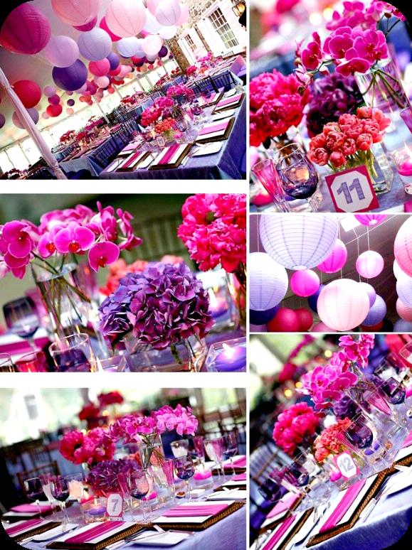 il tondo e l 39 ovale event and wedding colore matrimonio rosa fucsia 2. Black Bedroom Furniture Sets. Home Design Ideas