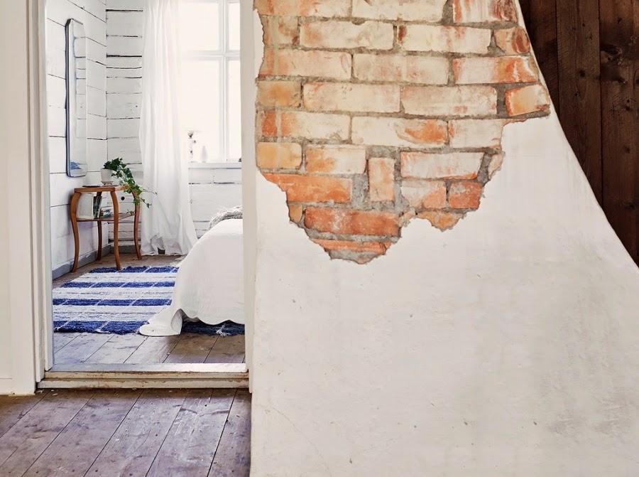 dom, wystrój wnętrz, wnętrza, home decor, styl skandynawski, białe wnętrza, shabby chic, czerwona cegła