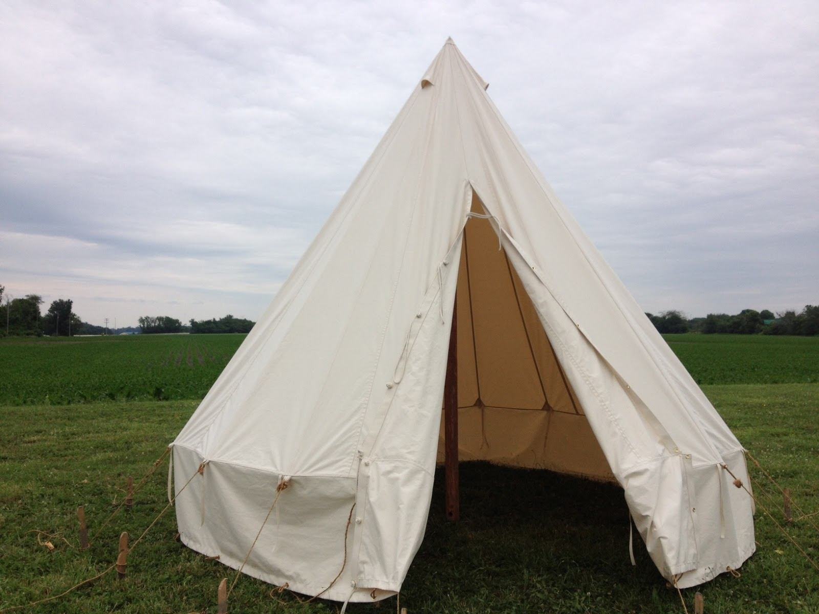 Ex&le of a WWI British Bell Tents reproduced for the ANZAC GIRLS Australian TV Series & World War One Tents from Armbruster | Armbruster Tent Maker