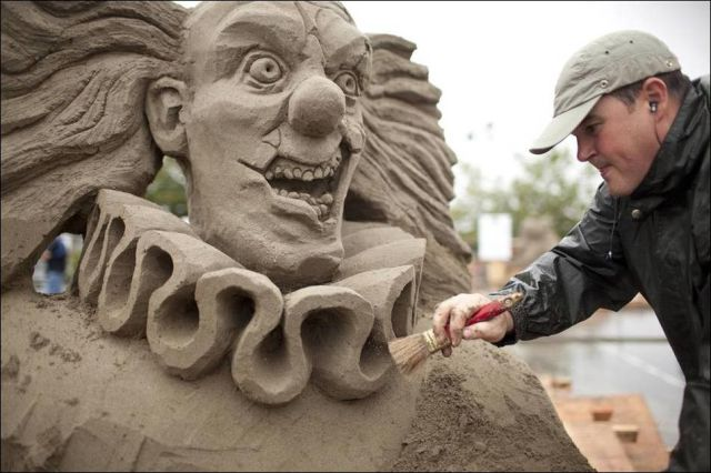 scary sand sculptures