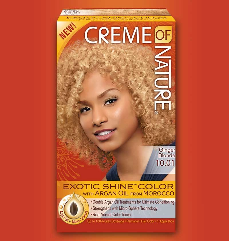 Review Dying Natural Hair X Creme Of Nature X Ginger Blonde The