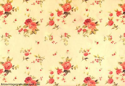 fondo vintage de flores rojas