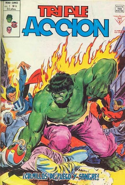 Portada de Triple Acción Volumen 1 Nº 14 Ediciones Vértice