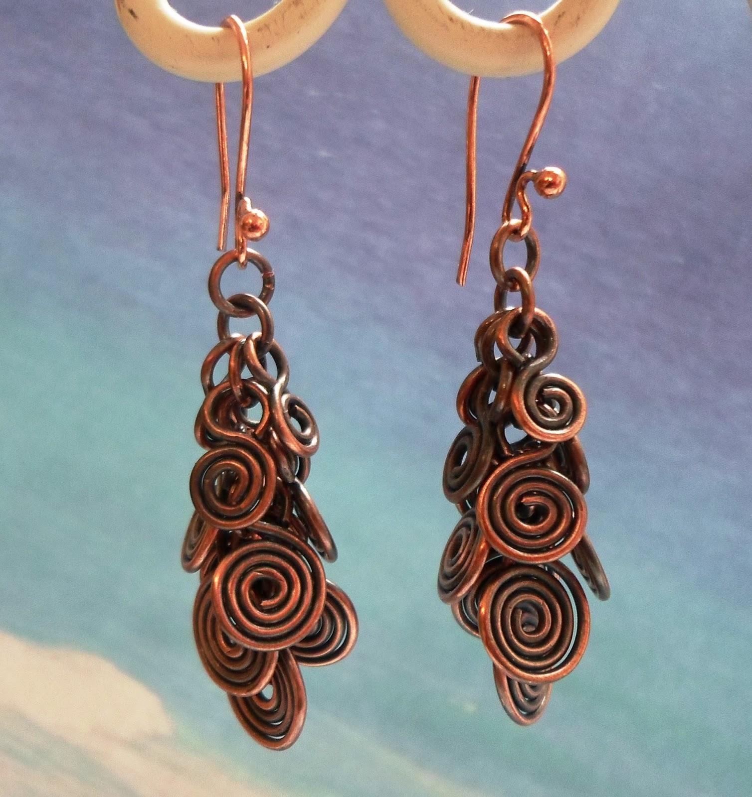 Artyzen Studio by Linda Sinish: Spiral Cluster Dangle Earrings