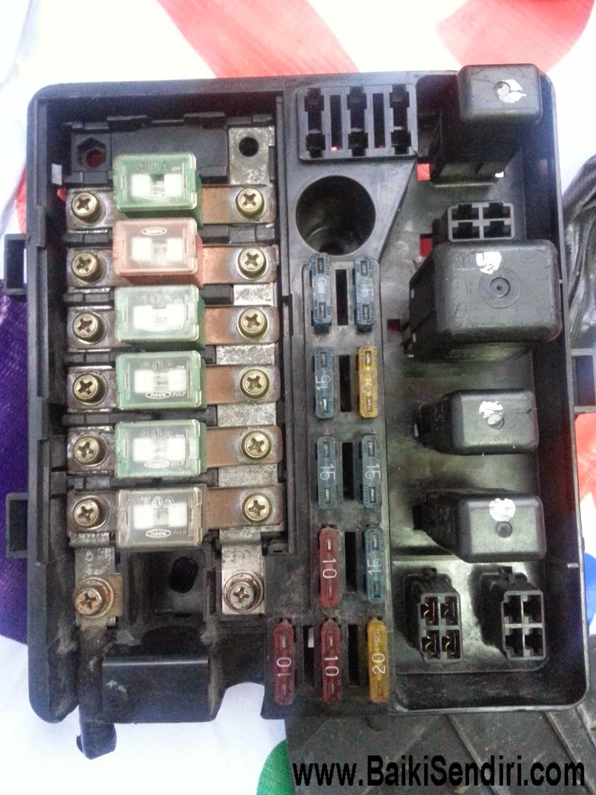 Honda B20A Prelude BA5 Fuse box replacement DIY 4 fuse box kancil 850 wiring diagram simonand 3 phase fuse box at webbmarketing.co