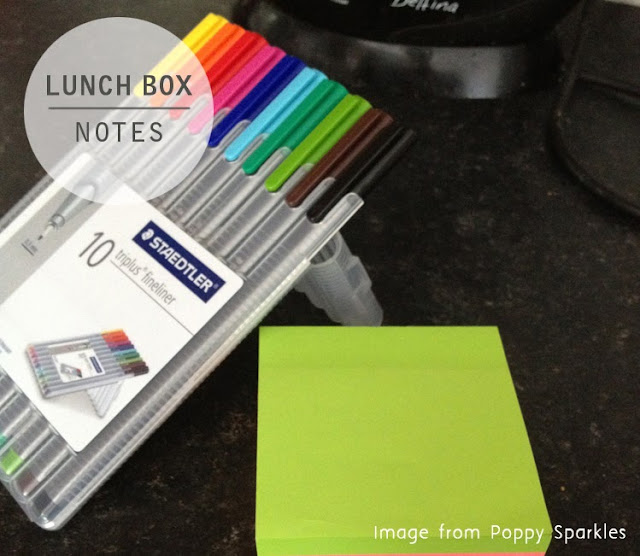 Lunch box notes  - Poppy Sparkles #parenting #packedlunch #lunchbox