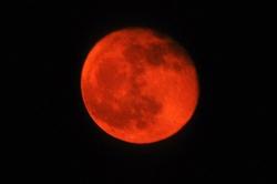 Der orangene Mond...