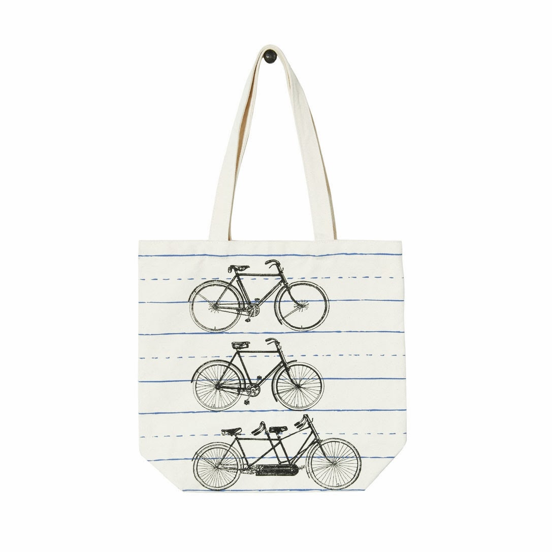 Bicycle Canvas Tote
