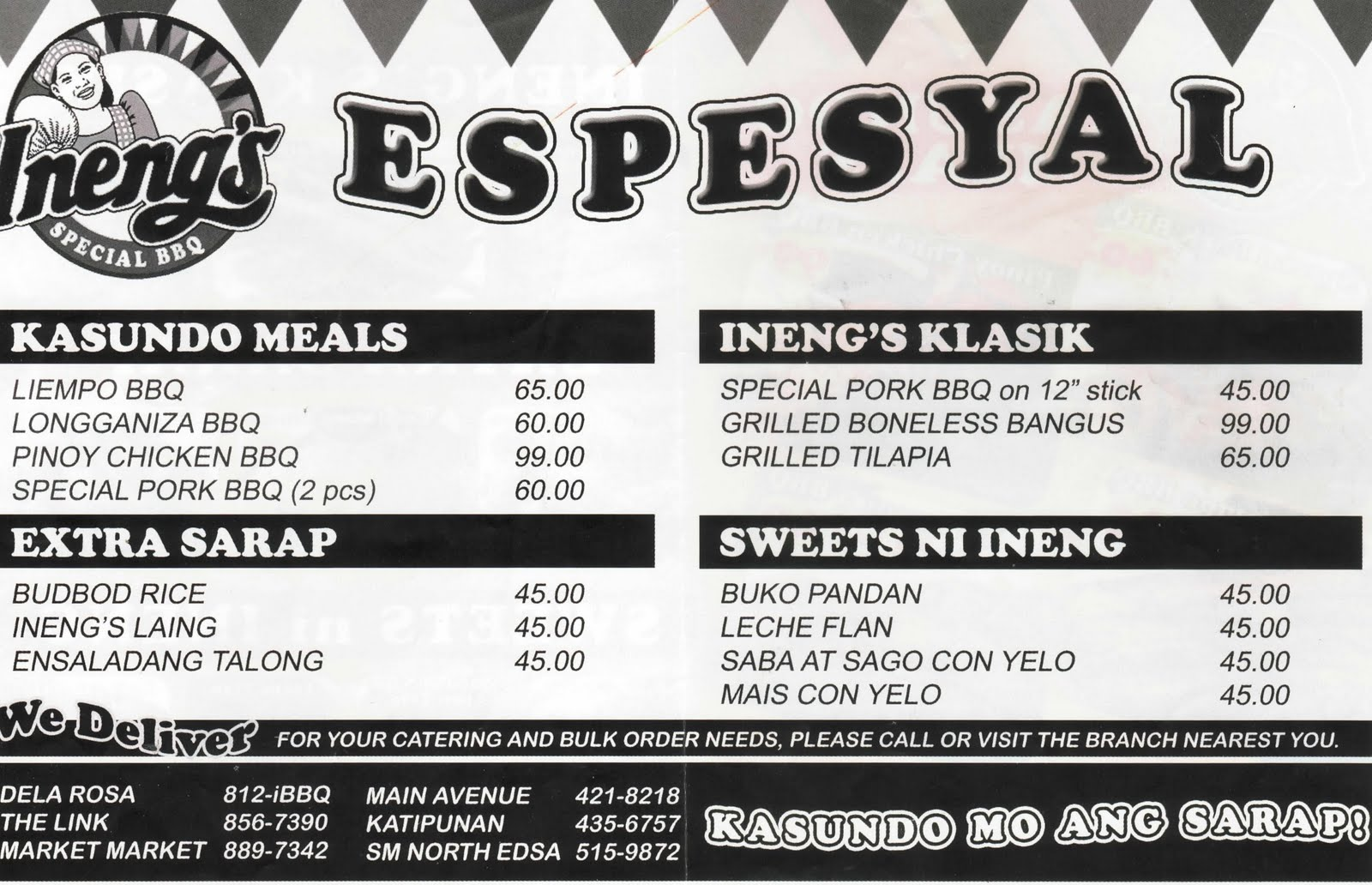 Pinoy Food Delivery Menu: Ineng's Special BBQ
