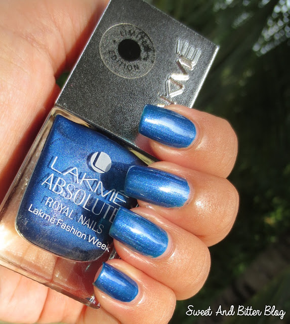 Lakme Absolute Royal Nails Blue Sapphire Swatch