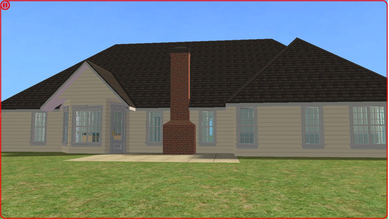 Sims 2 lot downloads 4 bedroom ranch for 4 bedroom ranch