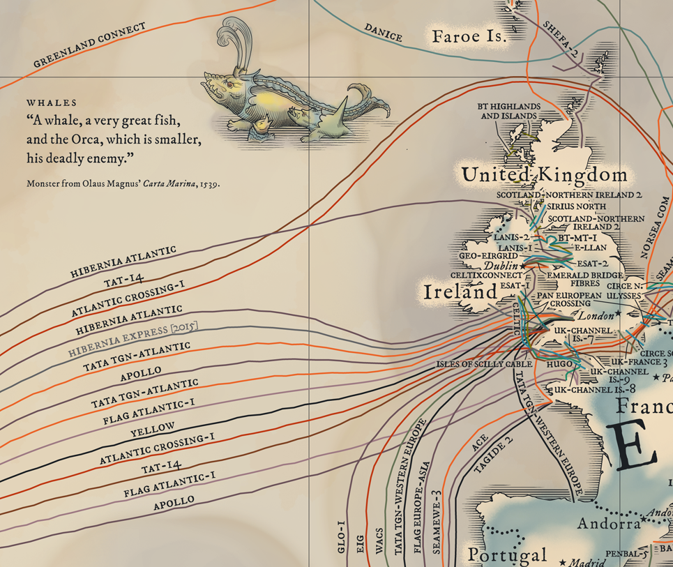 GeoGarage blog: The medieval undersea cable map