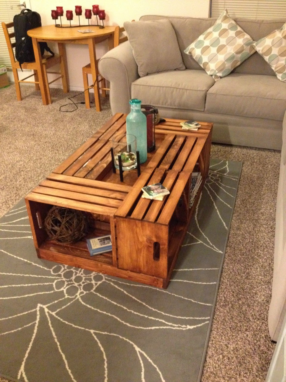 Livingston Way Diy Wine Crate Coffee Table