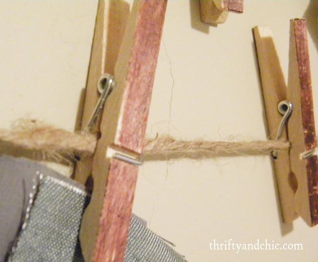 clothespin hanger