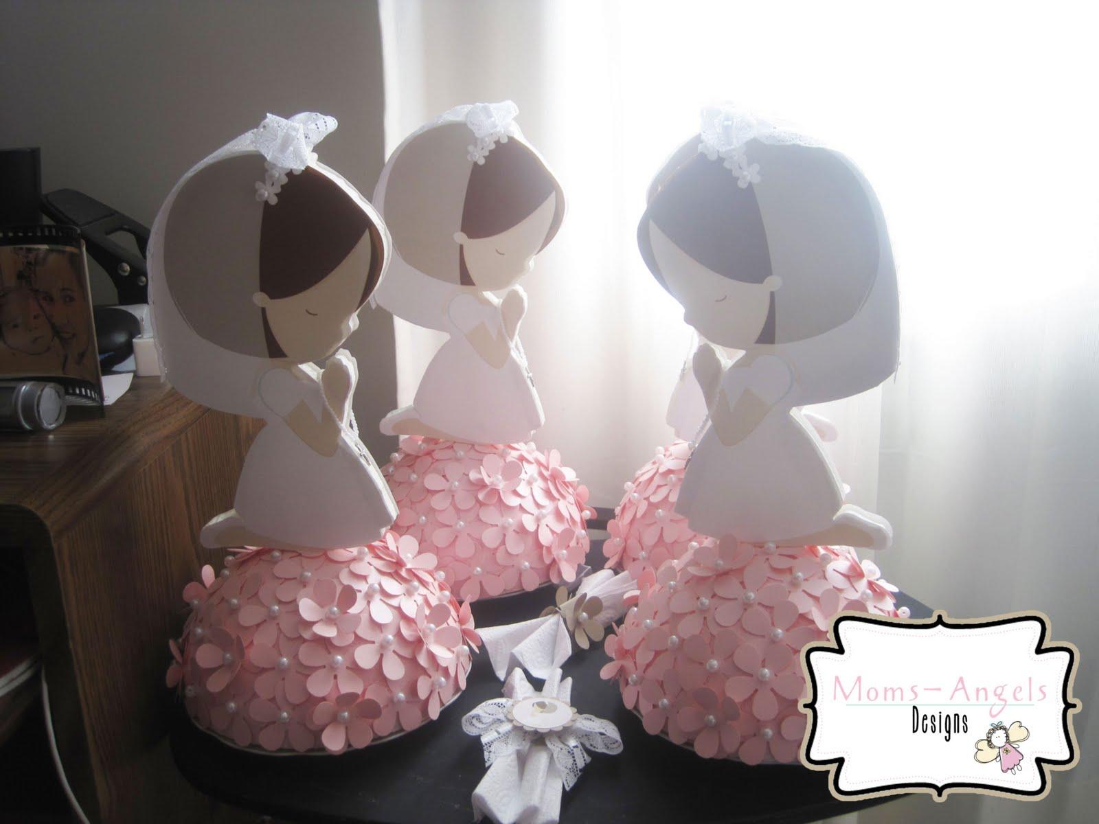 Moms angels invitaciones y decoraciones primera comunion - Decoracion para nina ...