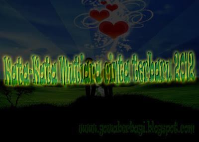 Kata-Kata mutiara cinta terbaru 2012