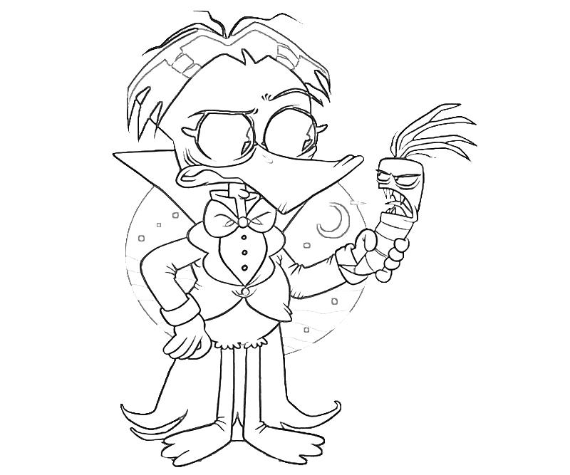 printable-count-duckula-funny_coloring-pages