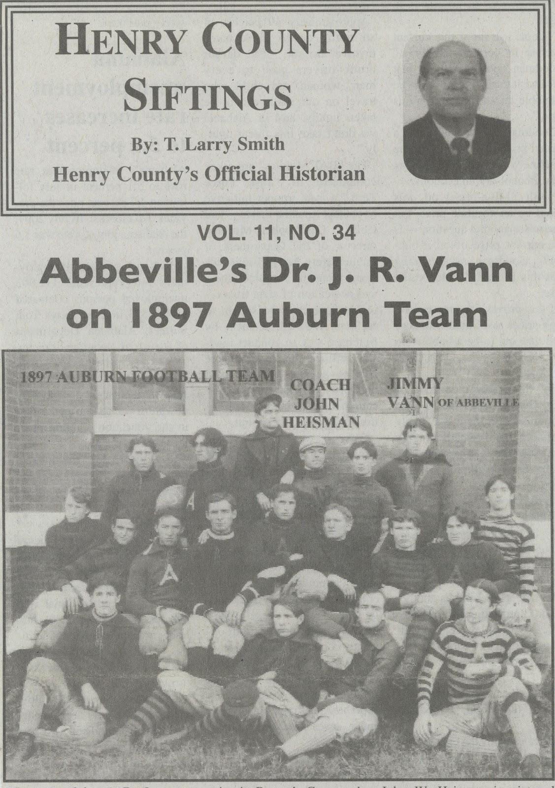 Jimmy Vann, an Auburn Tiger