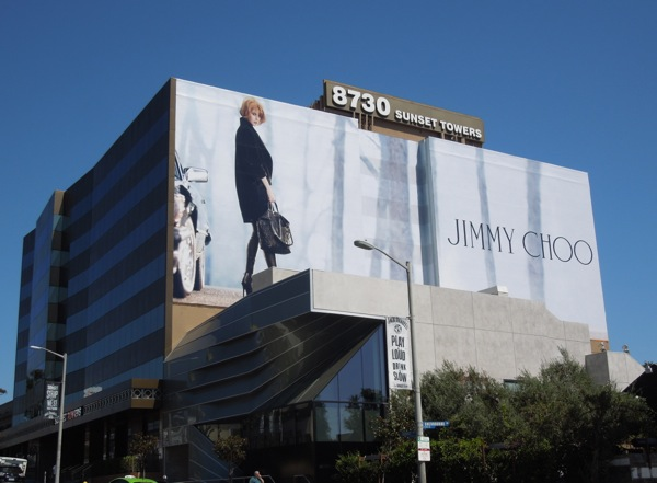 Giant Nicole Kidman Jimmy Choo FW 2013 billboard
