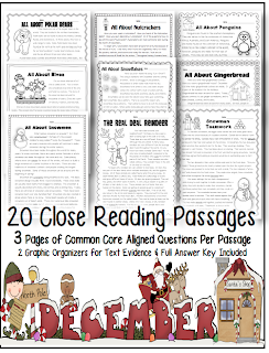 http://www.teacherspayteachers.com/Product/December-Close-Reading-Passages-w-Common-Core-Aligned-Text-Dependent-Questions-974894
