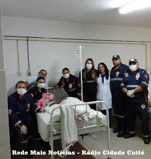 Samu de Cuité realiza parto de urgência em unidade móvel, o segundo em menos de uma semana