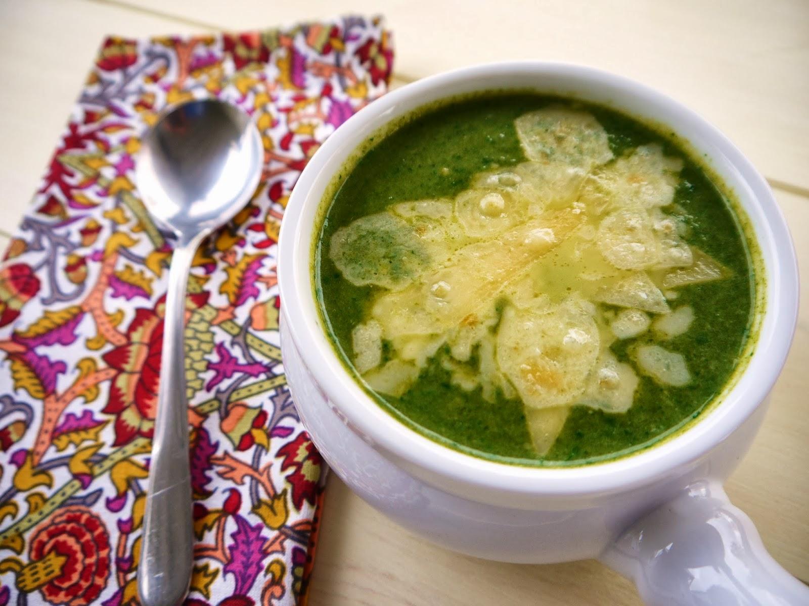 Eighty Twenty: 80--- Creamy Spinach Artichoke Bisque