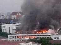 gedung setneg burnt
