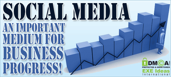 Social Media - An Important Medium For Business Progress!