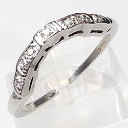 Art Deco Wedding Band
