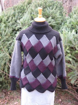 Free Knitting Pattern: Lady's Entrelac Hat