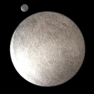 Imagen del planeta enano Eris y su satélite Disnomia