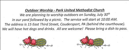 7-30 Outdoor Worship Park UMC