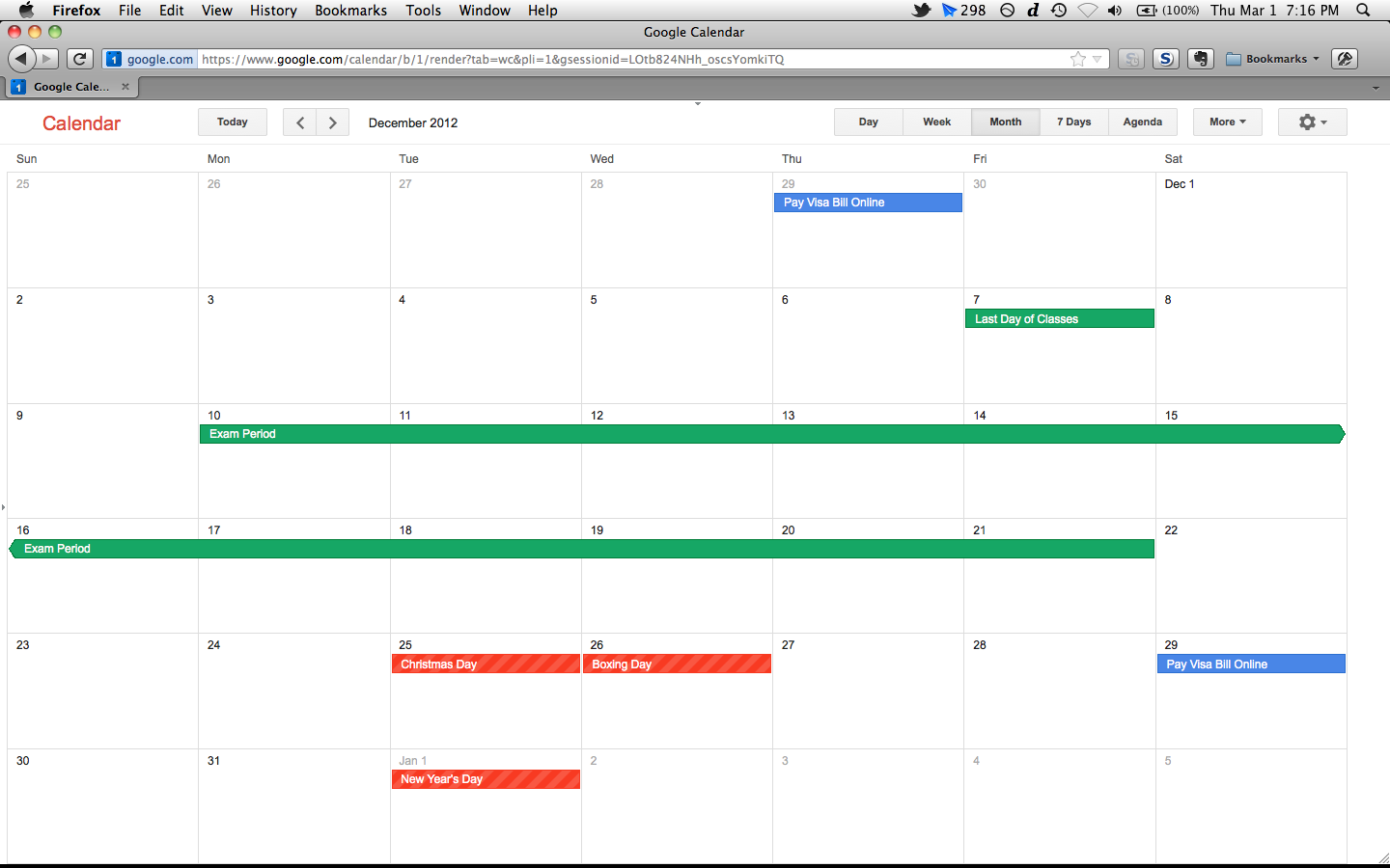 Google themes calendar