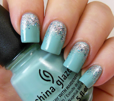 China Glaze For Audrey glitter gradient