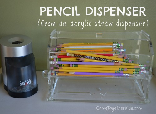classroom ideas, pencil containers, classroom organization ideas, teacher gift ideas