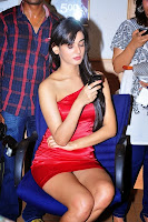 Sonal Chauhan in Red Short Gown Spicy Pics