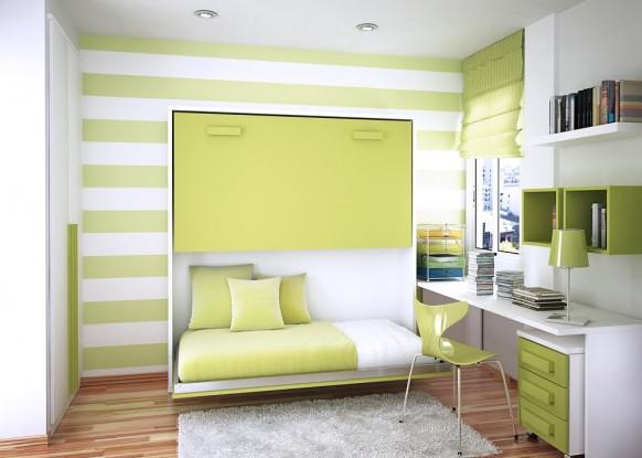 дизайн маленькой комнаты для подростка кровать трансформер фото