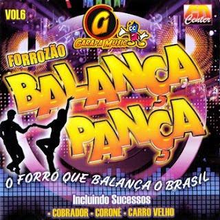 Capa Forrozão Balança Pança Vol 6 – VA (2012) | músicas