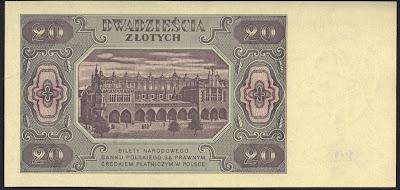 Polonia 20 Zlotych 1948 P# 137