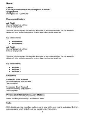 FRESH JOBS AND FREE RESUME SAMPLES FOR JOBS: 18/08/13 - 25/08/13